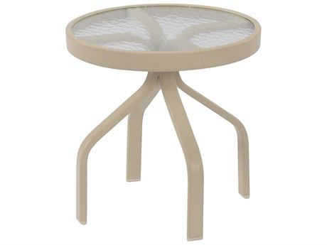 Windward Design Group Glass Top Aluminum 18 Round Side Table