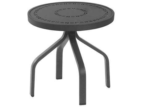 Windward Design Group Mayan Punched Aluminum 18 Round Side Table
