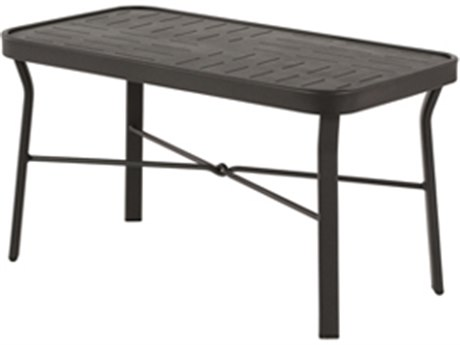 Windward Design Group Napa Punched Aluminum 34 x 18 Rectangular Cocktail Table