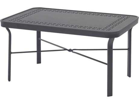 Windward Design Group Sunburst Punched Aluminum 34 x 18 Rectangular Cocktail Table