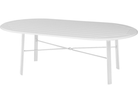 Windward Design Group Hartford Mgp Aluminum 44 x 22 Oval Coffee Table