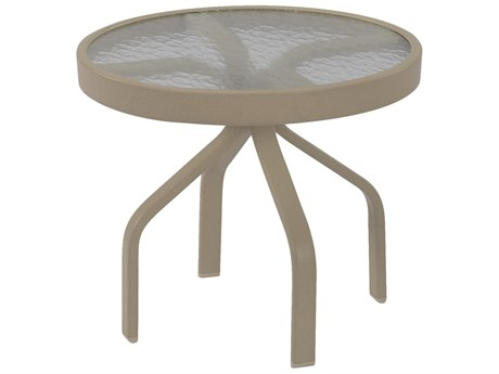 Windward Design Group Acrylic Top Aluminum 24''Wide Round Side Table