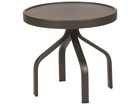 Windward Design Group Delray Smooth Aluminum 24''Wide Round Tea Table