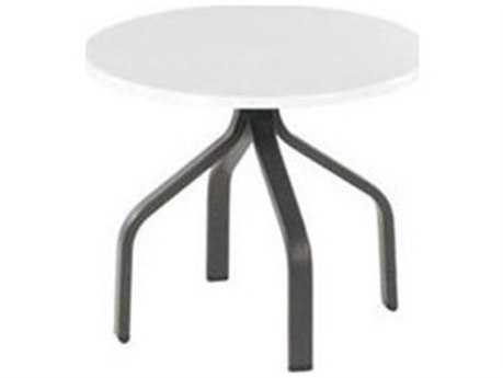 Windward Design Group Fiberglass Top Aluminum 24 Round Side Table