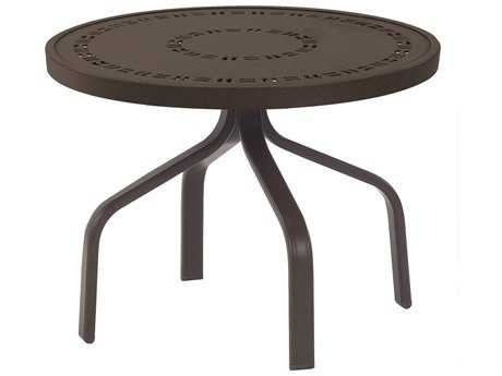 Windward Design Group Mayan Punched Aluminum 24 Round Side Table