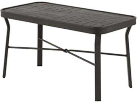 Windward Design Group Napa Punched Aluminum 36 x 24 Rectangular Coffee Table