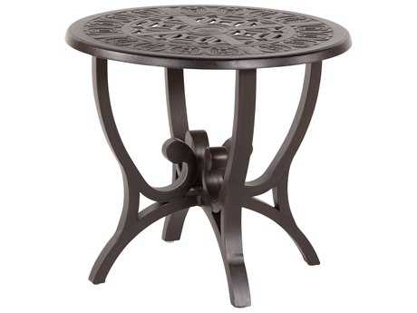 Windward Design Group Versailles Deep Seating Cast Aluminum 24 Round Side Table