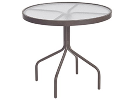 Windward Design Group Acrylic Top Aluminum 30''Wide Round Dining Table