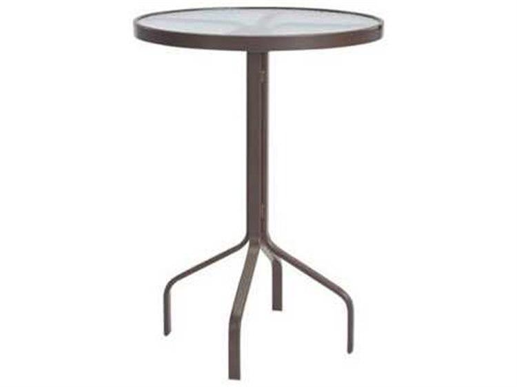 Windward Design Group Acrylic Top Aluminum 30 Round Balcony Table