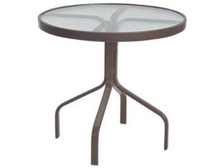 Windward Design Group Acrylic Top Aluminum 30 Round Dining Table