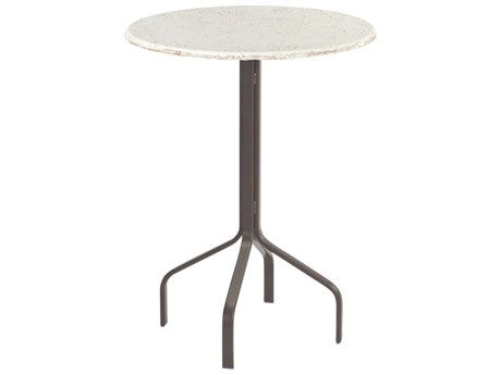 Windward Design Group Faux Stone Top Aluminum 30 Round Bar Table