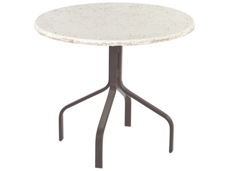 Windward Design Group Faux Stone Top Aluminum 30 Round Dining Table