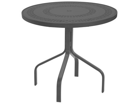 Windward Design Group Mayan Punched Aluminum 30 Round Dining Table