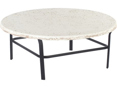 Windward Design Group Faux Stone Top Aluminum 36 Round Table