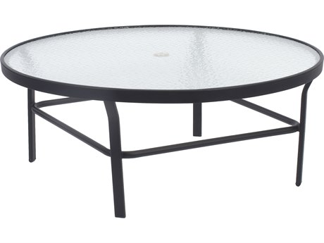 Windward Design Group Glass Top Aluminum 36 Round Table