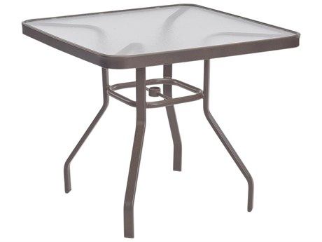 Windward Design Group Acrylic Top Aluminum 36 Square Dining Table