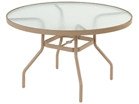 Windward Design Group Acrylic Top Aluminum 42''Wide Round Dining Table