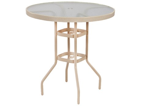 Windward Design Group Acrylic Top Aluminum 42''Wide Round Bar Table