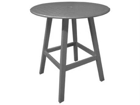Windward Design Group Kingston Solid Mgp 42 Round Hartford Balcony Table with Umbrella Hole