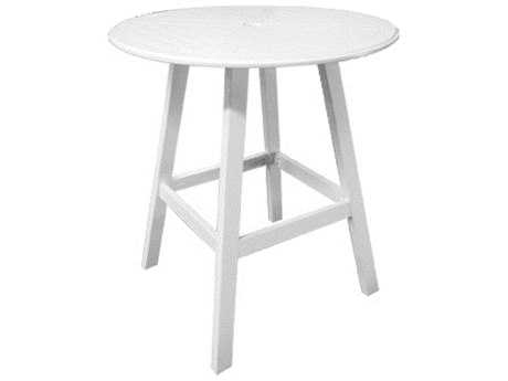 Windward Design Group Kingston Solid Mgp 42 Round Newport Bar Table with Umbrella Hole