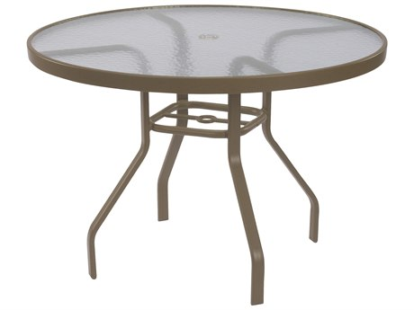Windward Design Group Acrylic Top Aluminum 42 Round Dining Table