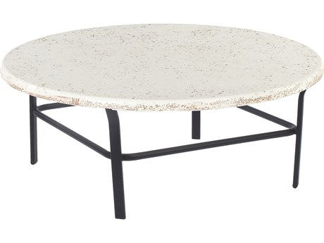 Windward Design Group Faux Stone Top Aluminum 42 Round Table