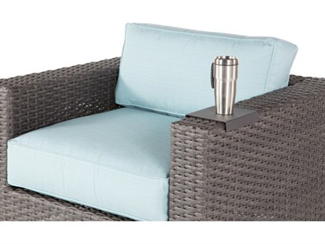 Windward Design Group Georgia Wicker Deep Seating Aluminum Drink Tray