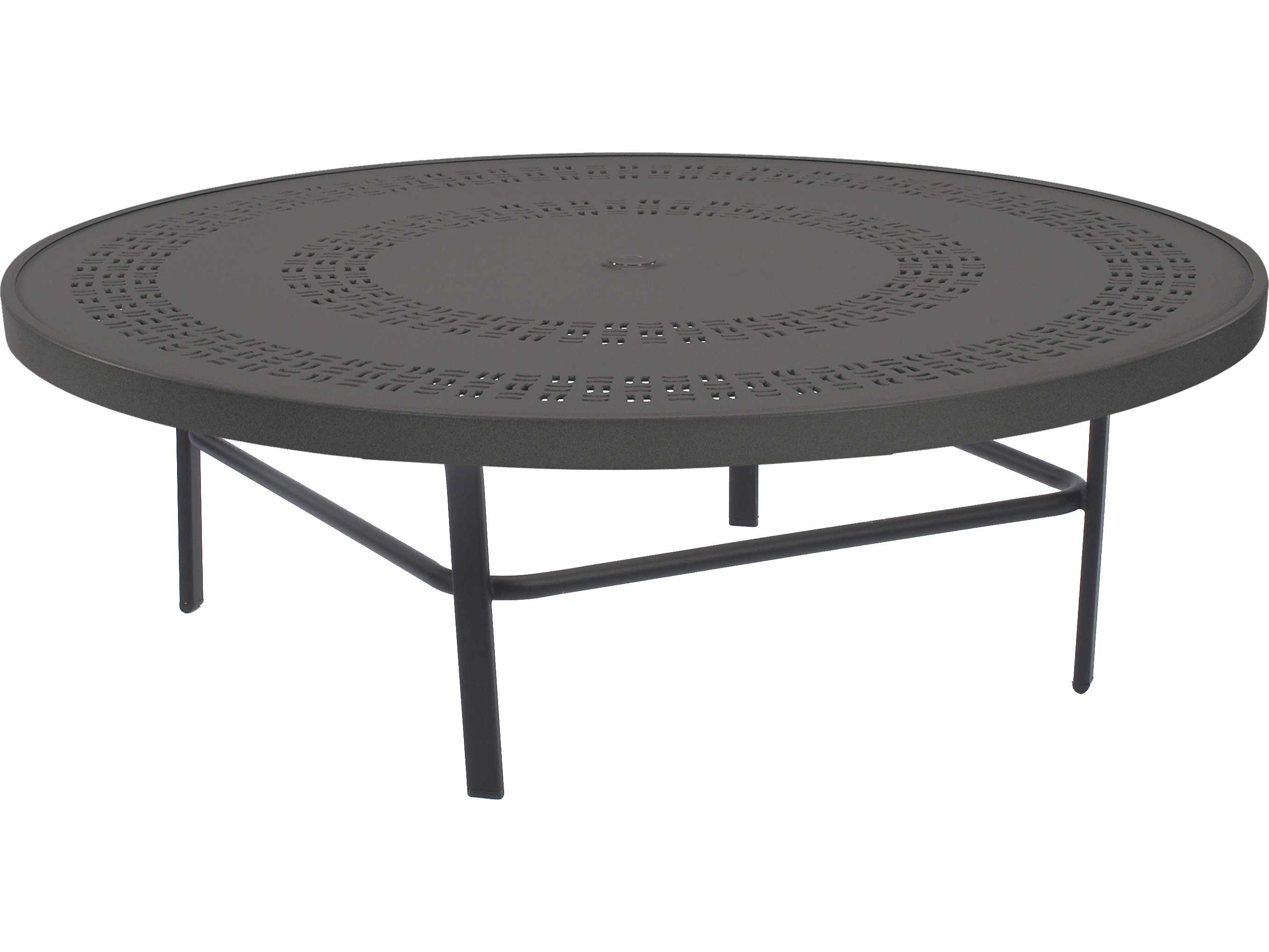 Windward Design Group Mayan Punched Aluminum 47 Round Table