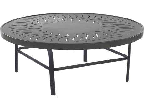 Windward Design Group Sunburst Punched Aluminum 47 Round Table