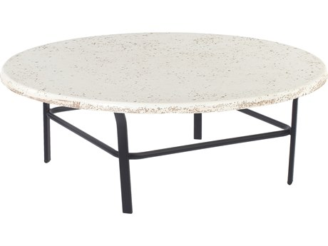 Windward Design Group Faux Stone Top Aluminum 48 Round Table