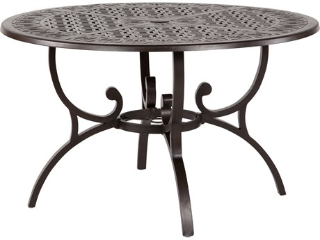 Windward Design Group Versailles Dining Cast Aluminum 48 Round Dining Table