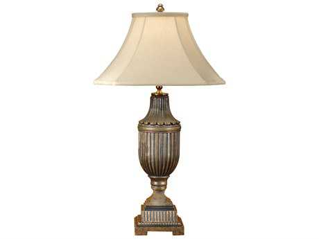Wildwood Lamps Fluted Faux Bronze Urn Table Lamp