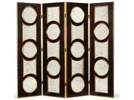 Wildwood Lamps Antique Mirror Glass Folding Screen