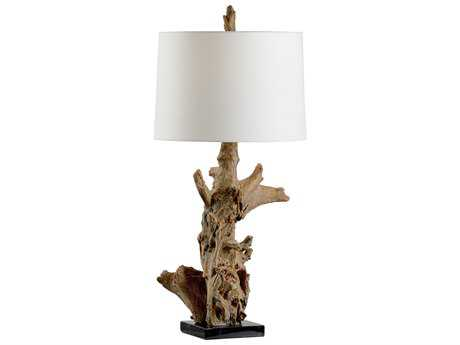 Wildwood Riverwood Driftwood And Black Buffet Lamp