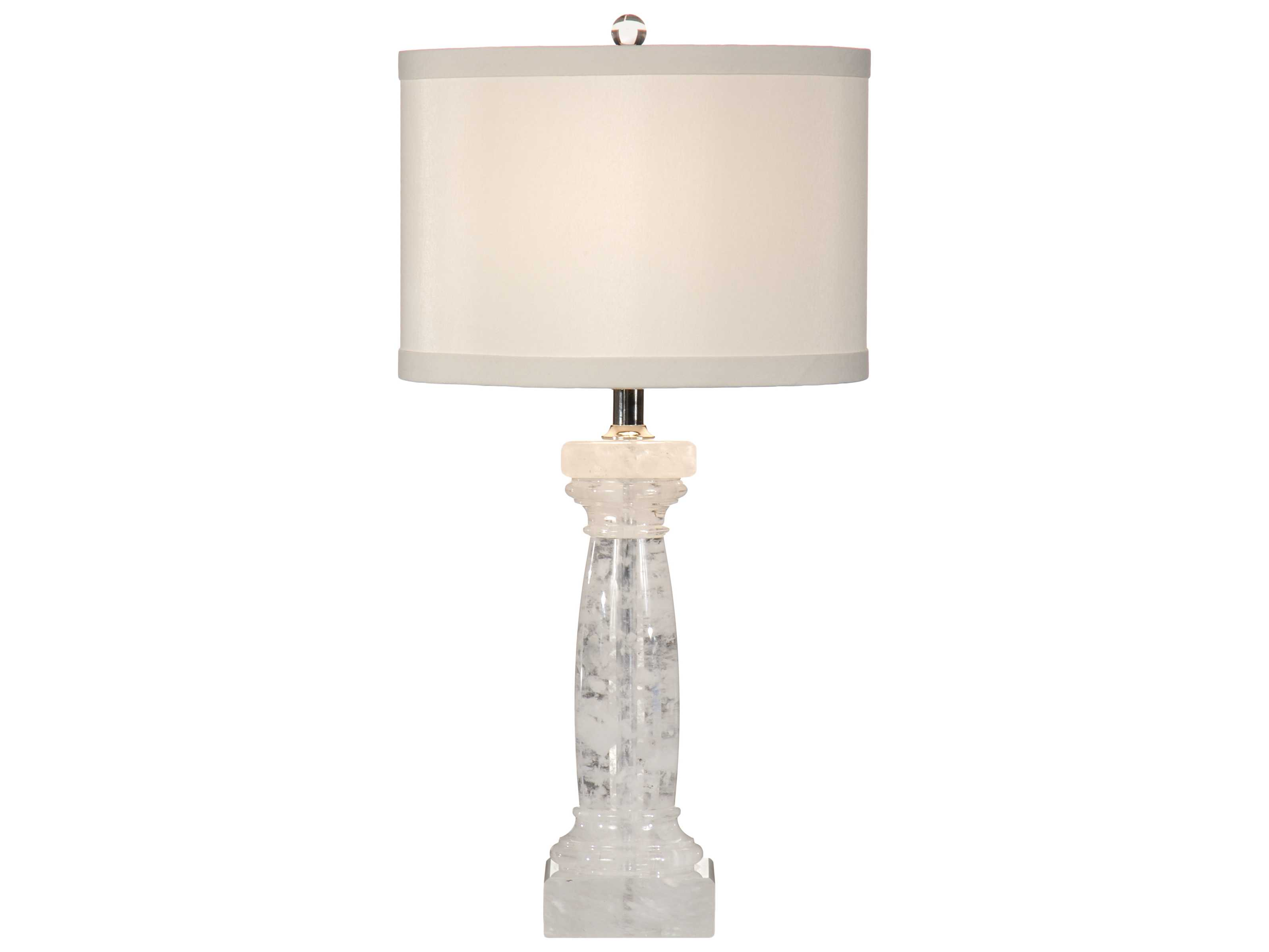 Wildwood lamps quarry rock crystal natural quartz table for Rock lamp