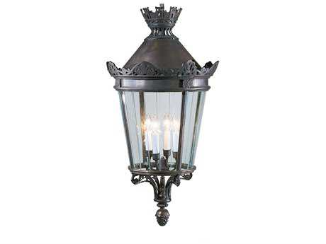 Wildwood Lamps Bronze Fitted Glass Brass Four-Light Lantern