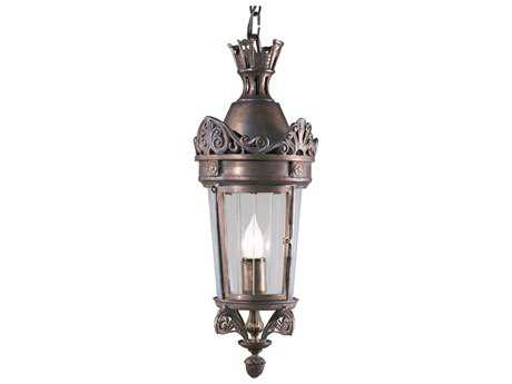 Wildwood Lamps Crowned Bronze On Solid Brass Glass Outdoor Hanging Lantern