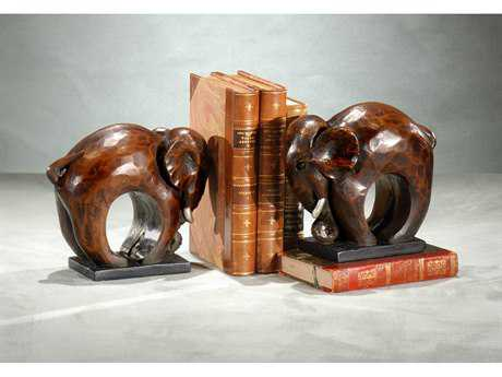 Wildwood Lamps Elephant Faux Stone Pair Of Bookends