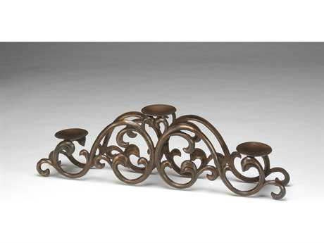 Wildwood Lamps Iron Scroll Candleholder