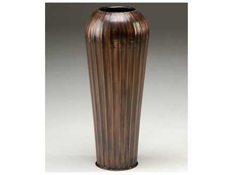 Wildwood Lamps Brass Bronze Reeded Vase