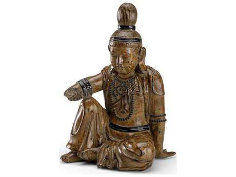 Wildwood Lamps Buddha Composite With Antique Patina Sculpture