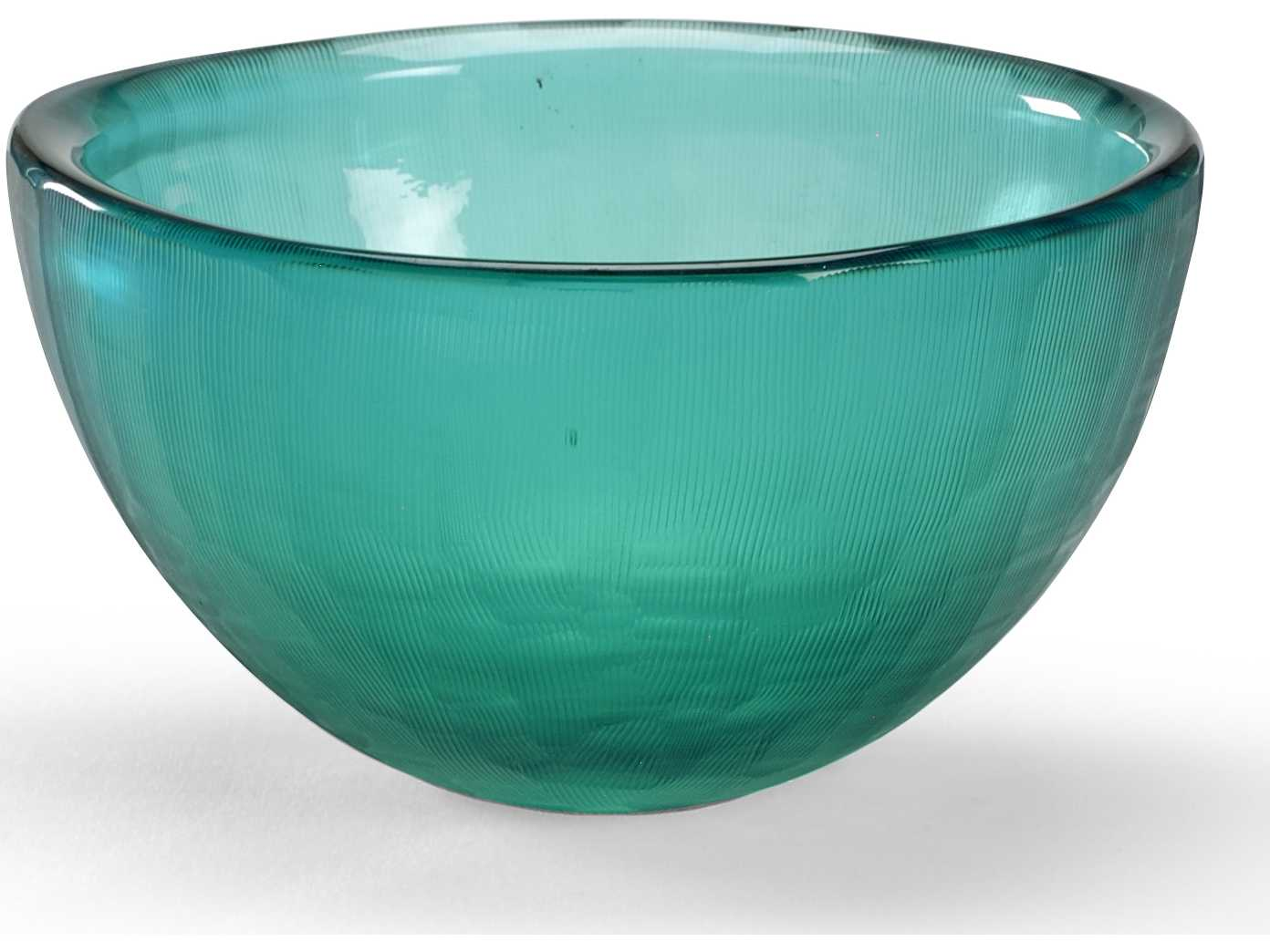 wildwood lamps centrepiece glass bowl grey blue with lines c