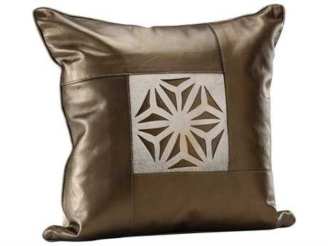Wildwood Lamps Leather & Hide Medallion Pillow
