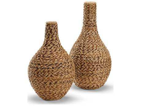 Wildwood Lamps Bulging Natural Materials Jar (Set Of Two)