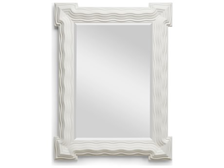 Wildwood Lamps 30.5'' x 40'' Matte White Looking Glass Mirror