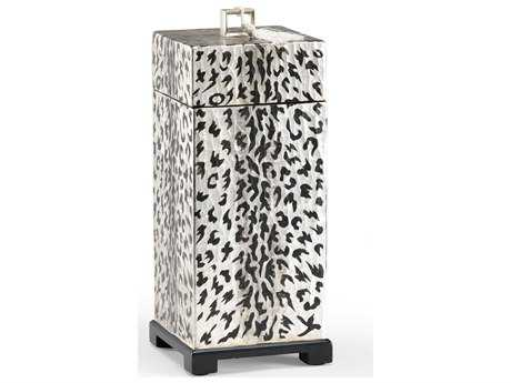 Wildwood Lamps Extrude Tall Detail Wood Composite Textured Jewelry Box