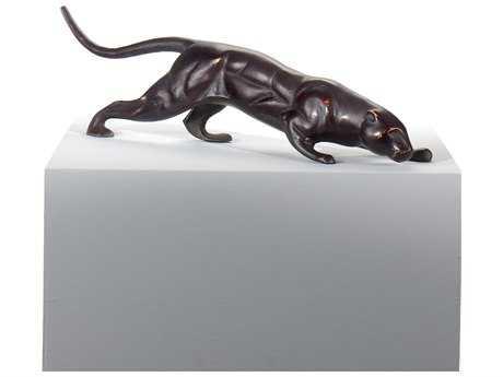 Wildwood Lamps Puma Alloy Casting Ebony Block Stand Sculpture