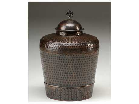 Wildwood Lamps Covered Jar Solid Brass And Copper Old Copper Patina Urn
