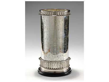 Wildwood Lamps Nickel Plate On Solid Brass Candle Holder