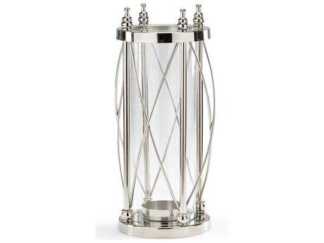 Wildwood Lamps Guarded Hurricane Polished Nickel For Pillar Candle Holder